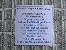 52) Berlin ** 140 yw W DZ 12 auf U3a  als Komplettbogen Berliner Stadtbilder