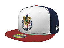 New Era 59Fifty Cap Chivas de Guadalajara Mexican Soccer Club White Fitted Hat