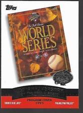2003 Topps 1993 World Series program card (Toronto Blue Jays v. Philadelphia)