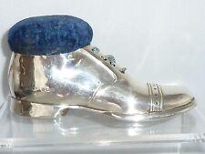 Antique Silver Shoe Pin Cushion Boot lace up shoe c1923 Large