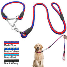 Martingale Dog Collar & Lead Nylon Half Check Choke Collars Chain Pet Training