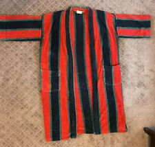 Ash Creek Trading Mens terry cloth robe W/ Belt Blue Green Red Size M See Photo