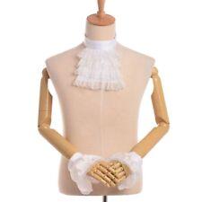 Jabot Collar & Cuff Set Victorian Detachable Lace Ruffle Steampunk Edward Collar