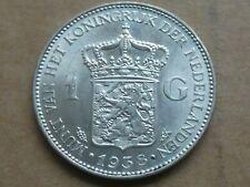1 gulden, Wilhelmina, 1938, zilver, prachtig +