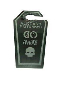 Already Disturbed Go Away Gothic Skull Hanging Door Handle Sign Teenager Bedroom