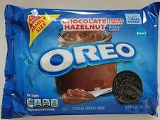 NEW Nabisco Oreo CHOCOLATE HAZELNUT Flavor Creme Cookies FAMILY SIZE FREE SHIP