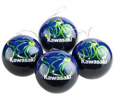 Kawasaki Weihnachtskugeln Set Racing Baumschmuck ! NEU ! von BikerWorld