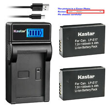 Kastar Battery LCD USB Charger for LPE17 Canon EOS RP Mirrorless Digital Camera