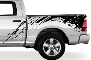 Decal for Dodge Ram Bed Side Splash 4x4 Vinyl Graphics Design Sticker off road