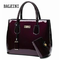 Women Leather Handbag Purse Shoulder Zipper Satchel Crossbody Bag Messenger Tote