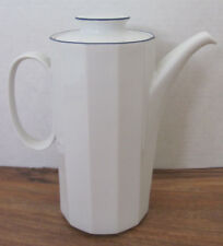 Rosenthal Studio Linie/Line Aegina-Polygon Blue on Rim- Coffee Pot with Lid