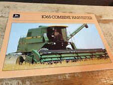 1984 JOHN DEERE 1065 COMBINE  Original Australian Sales  Brochure