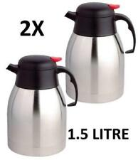 X2 1.5L STAINLESS STEEL TEAPOT VACUUM JUG FLASK COFFEE TRAVEL HOT THERMOS