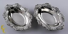 S Kirk Son Repousse 2 pc Nut Dishes Sterling Silver 925 Flatware