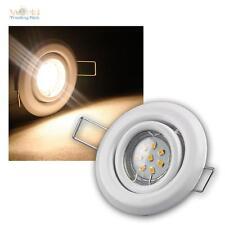 SET LED empotrado 5 focos orientable blanco cálido SMD LEDs MR11 Foco