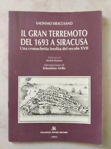 Libro Anonimo Siracusano Il Gran Terremoto Del 1963 A Siracusa 1993