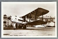 IMPERIAL AIRWAYS ARMSTRONG WHITWORTH ARGOSY LE BOURGET RPPC REAL PHOTO POSTCARD