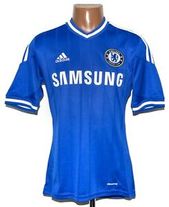 CHELSEA 2013/2014 HOME FOOTBALL SHIRT JERSEY ADIDAS SIZE S ADULT