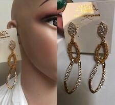 ❤️❤️❤️ Amrita Singh Jewellery New Gold 10 Cm Long Earrings + Mimco Dust Bag