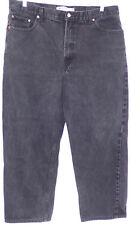 LEVIS 550 RELAXED FIT sz 42 X 30 100% COTTON RED TAB BLACK JEANS  (#1132-7)