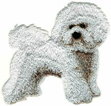 "3.5"" Standing Full Body Bichon Frise Breed Embroidery Patch"