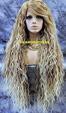 Long Curl Layered Medium Blonde Mix Full Lace Front Wig Heat Ok Hair Piece NWT