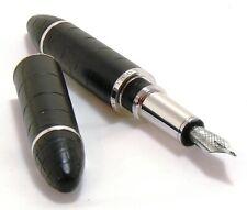 Louis Vuitton Cargo Alligator Black & Platinum Fountain Pen EXC++ #35703
