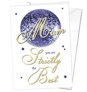 Mothers Day Card Mum Strictly The Best Birthday Christmas Come Dancing Love Cute