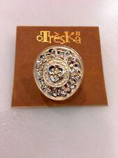Treska Flower Stretch Ring Light Gold Color
