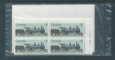 Canada #1038 Canadian Locomotives (1860-1905) - 2 PO Sealed Set Plate Block MNH