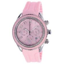 T10 MARACUJA WATCH IN SILICON , 3 SPHERES AND STRASS T10-C010RS, PINK