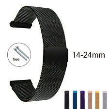 Magnetic Milanese Loop Watch Strap 24mm 14 16 18 20mm 22mm Stainless Steel Band