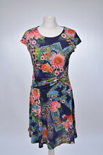 Kleid Jerseykleid Blumen Leo Muster von Jaune Rouge, 40 L, neu