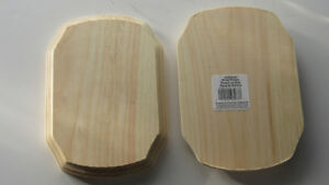 """Unfinished Rounded Wood Plaques 6.75"""" long x 4.75"""" wide x.75 thick"""