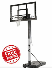 Spalding Nba 60 Acrylic Portable Basketball Hoop Backboard Screw Jack System