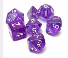 16 mm 7 diferentes en forma geométrica dados Mk Juego de Mesa interesante dados púrpura