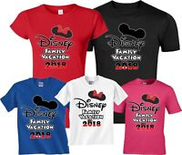FAMILY VACATION Disney WORLD 2018 Mickey and Minnie T-Shirts
