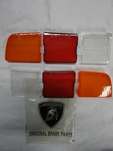 Lamborghini Miura SV tail light lens set lenses NOS