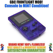 Nintendo Game Boy Color GBC Frontlight Front Light Frontlit Mod Blue MINT NEW