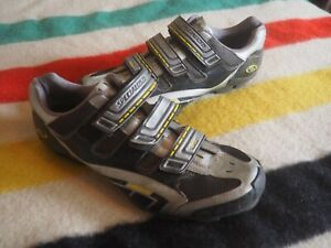 SPECIALIZED BG Carbon FACT Silver Yellow Men Clip Road Cycling Shoes US 14 EU 47
