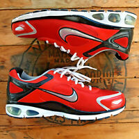 Nike Air Max Agitate Men's 12 Red Black Silver Running Shoes 2010 414259-610
