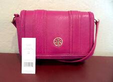 8587d079b8dd New ListingNWT! TORY BURCH LANDON Mini Flap WALLET Cross Body WILDFLOWER  Pink Leather  295