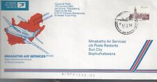 1984 Fdc Ffc Mmabatho Air Services Pilansberg Inaugeral Flight