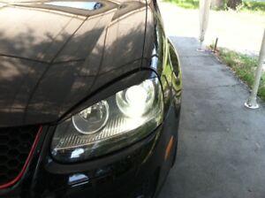 Eyelids eyebrows FRONT headlight light brows for VW GOLF JETTA RABBIT GTi MK5