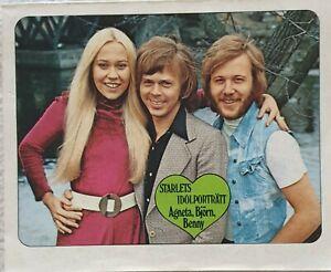 ABBA- RARE ORIGINAL PIN- UP BILD &  REPORTAGE BENNY ANDERSSON 1972