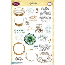 Justrite Papercraft 388354 Clear Stamps 6Inx8In-Coffee House NEW