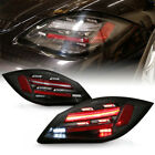 For Porsche 09-12 987 Boxster Cayman [718 Style] Sequential LED Black Tail Light