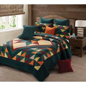 """Cricket Hollow Pumpkin Printed Quilt Set - King Size (105"""" x 95"""")"""