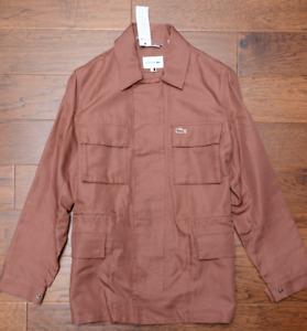 Lacoste BH3935 $325 Men's Cevennes Brown Cotton/Linen Four Pocket Jacket S EU 48