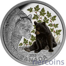 Canada 2015 Baby Animals Black Bear $20 Pure Silver Proof Coin Perfect